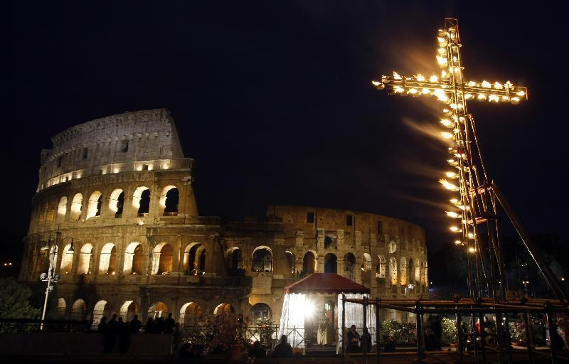 Via Crucis at Colosseum - Easter in Rome