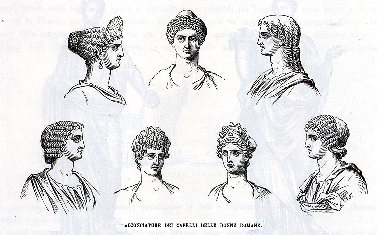 Astonishing Ancient Roman Beauties And Their Makeup Bag Italy Magazine Short Hairstyles For Black Women Fulllsitofus