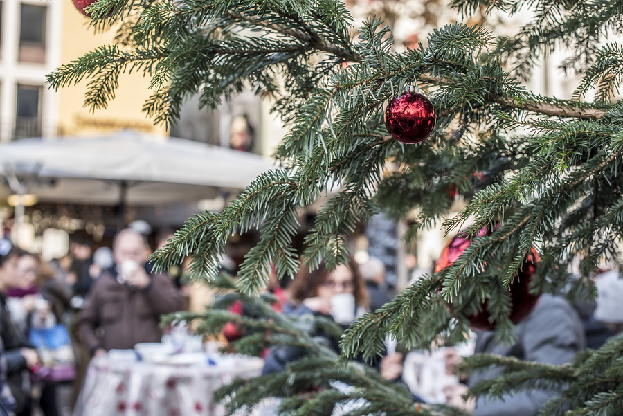 the christmas market offers traditional handcrafted items made of wood glass and clay as well as christmas decorations and seasonal sweetmeats
