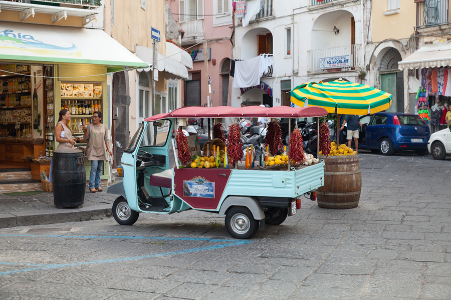 Typical Italian vehicle with lemons