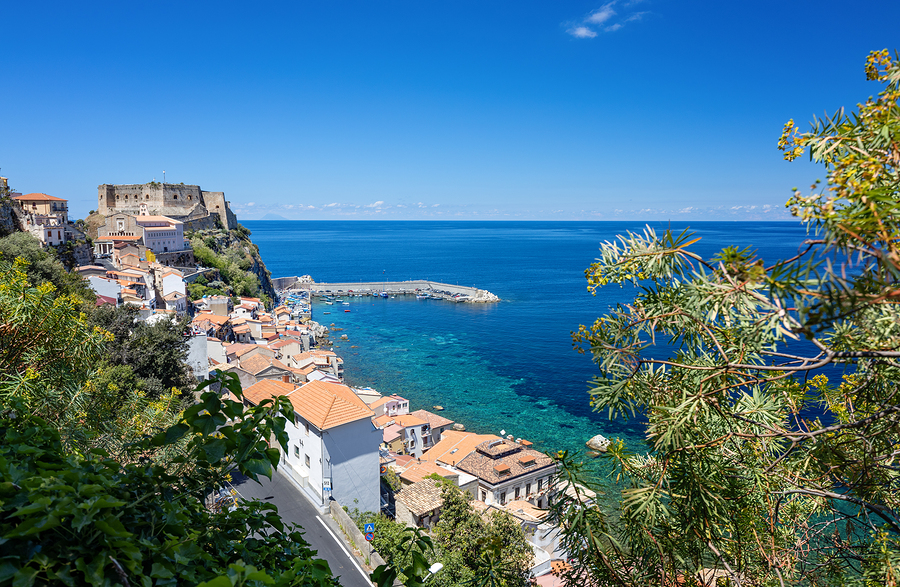 View of the village of Scilla