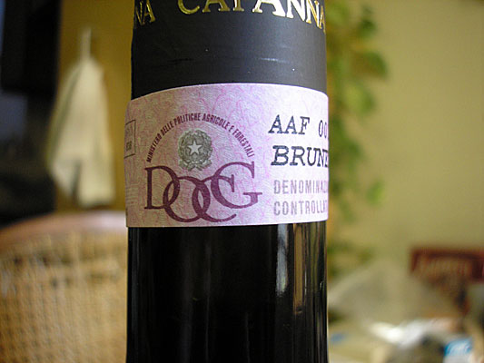 DOCG label Italy