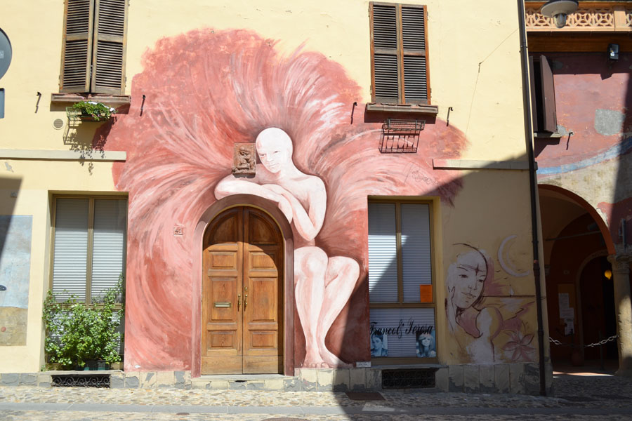 Painted wall in Dozza