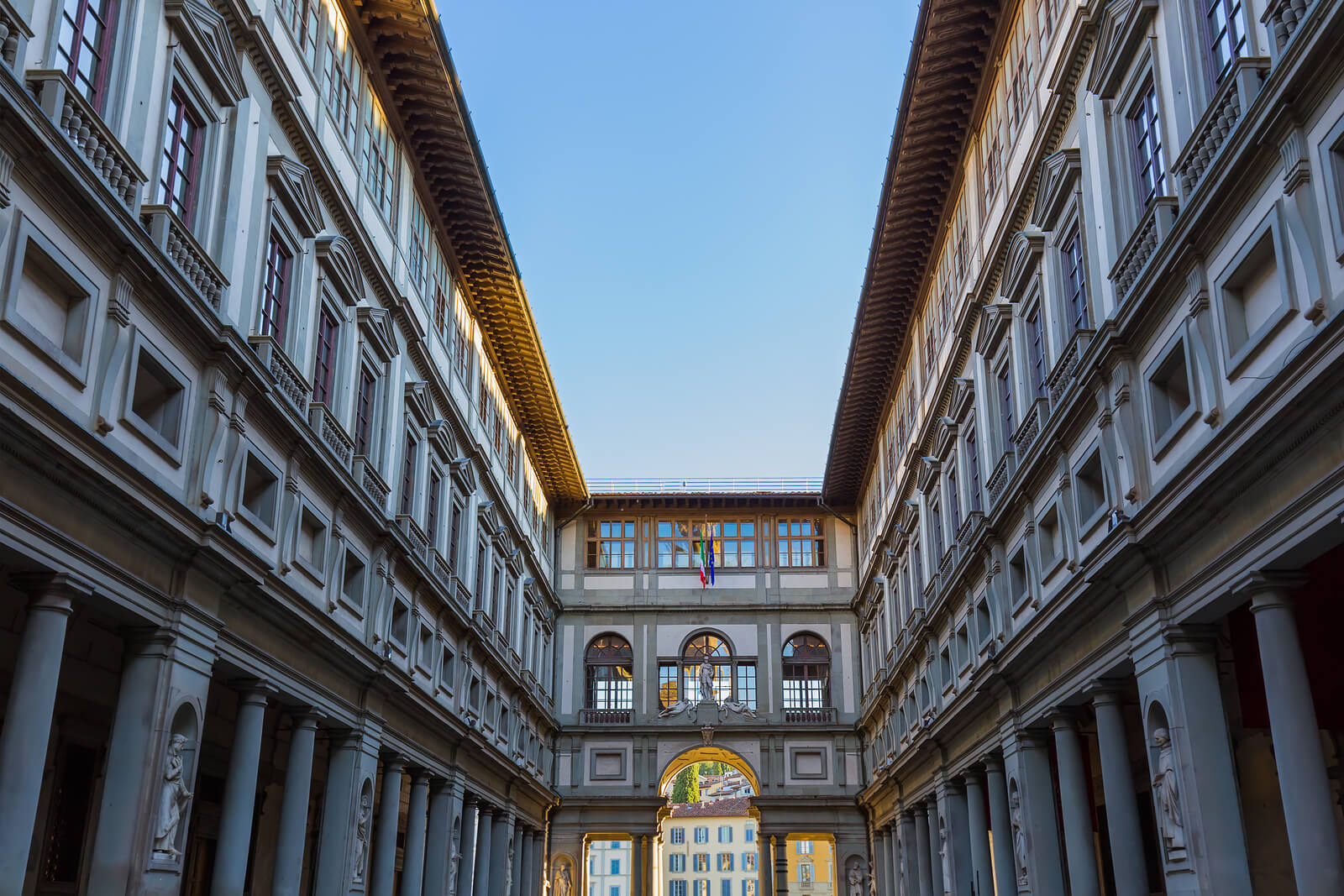 Exterior of Uffizi Gallery in Florence