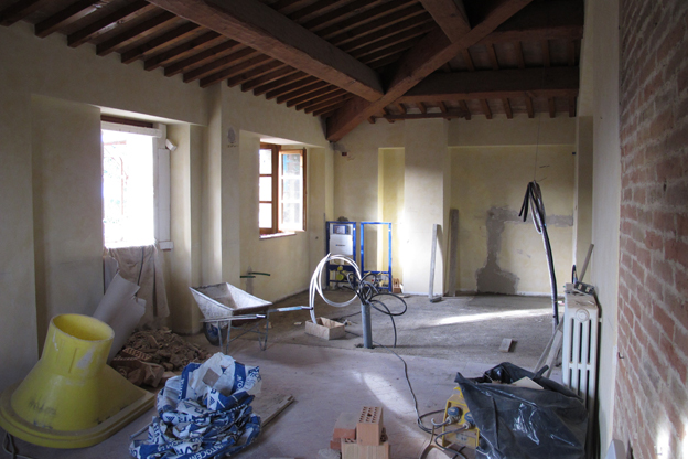 Renovation work in the junior suite of Villa San Michele B&B