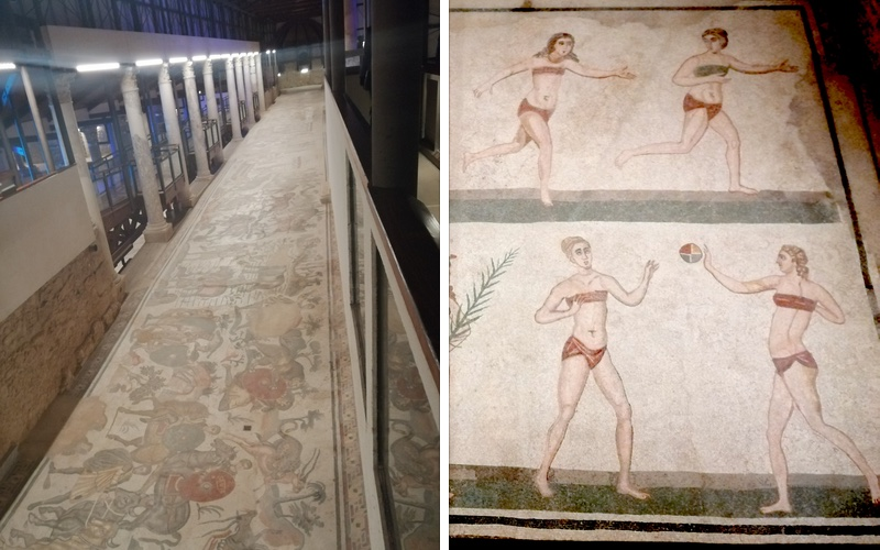 Left: Corridor of the Great Hunt; Right: the 'Bikini Girls' title=