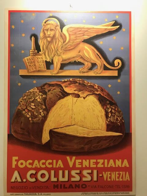 Poster with the winged lion, symbol of Venice