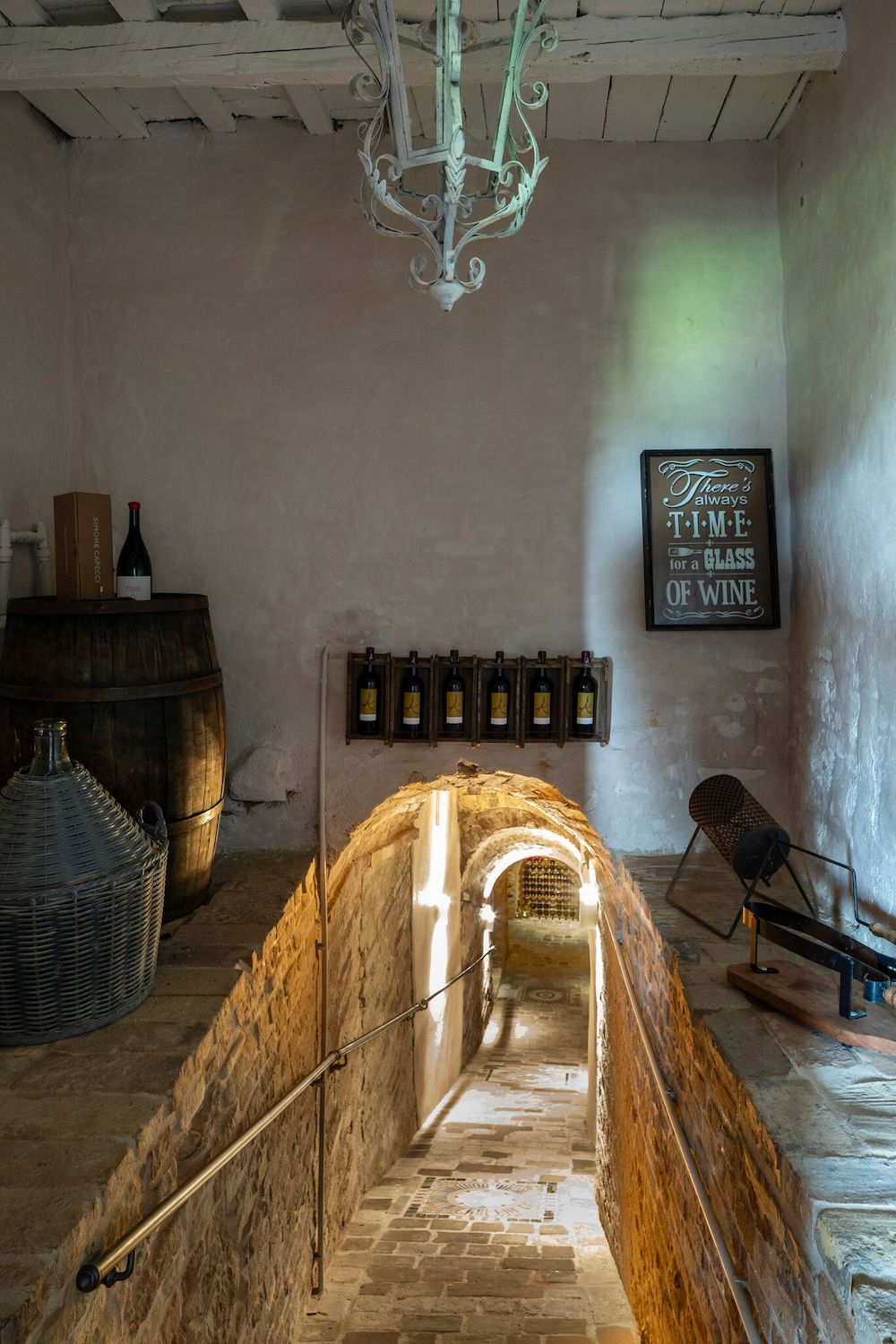 The newly restored cellar