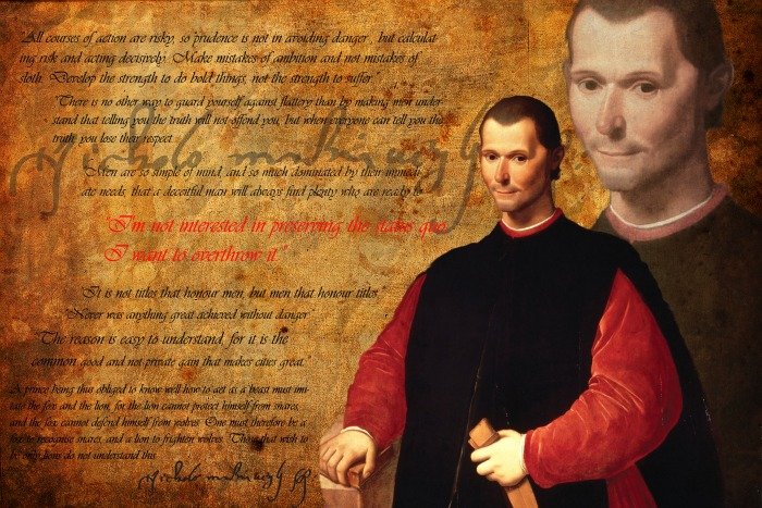 niccolo machiavellis viewpoint on princes power Niccolo machiavelli  florentine kings and princes as a diplomat  machiavelli was an enemy of corruption and was providing a realistic view of politics.