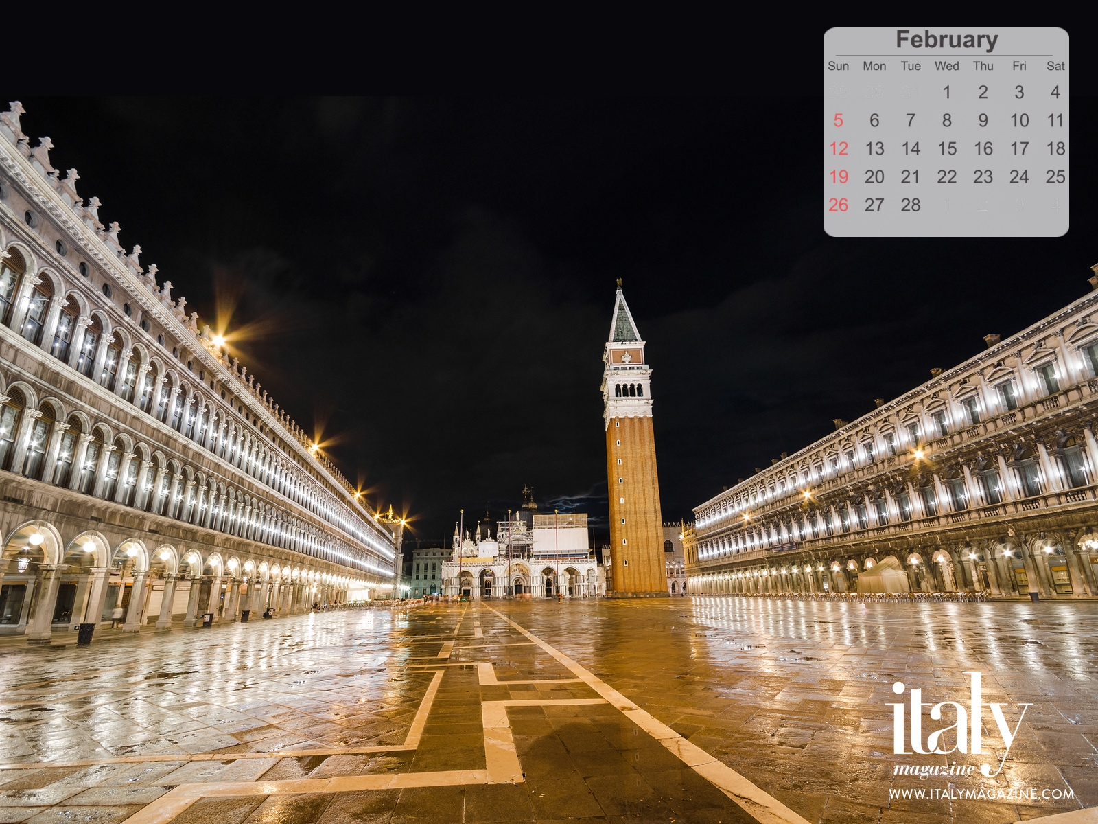 Calendar Clock Wallpaper : Wallpaper calendar february 2017 italy magazine