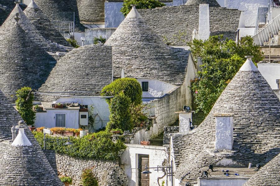 The traditional Trulli houses in Alberobello city, Apulia, Italy