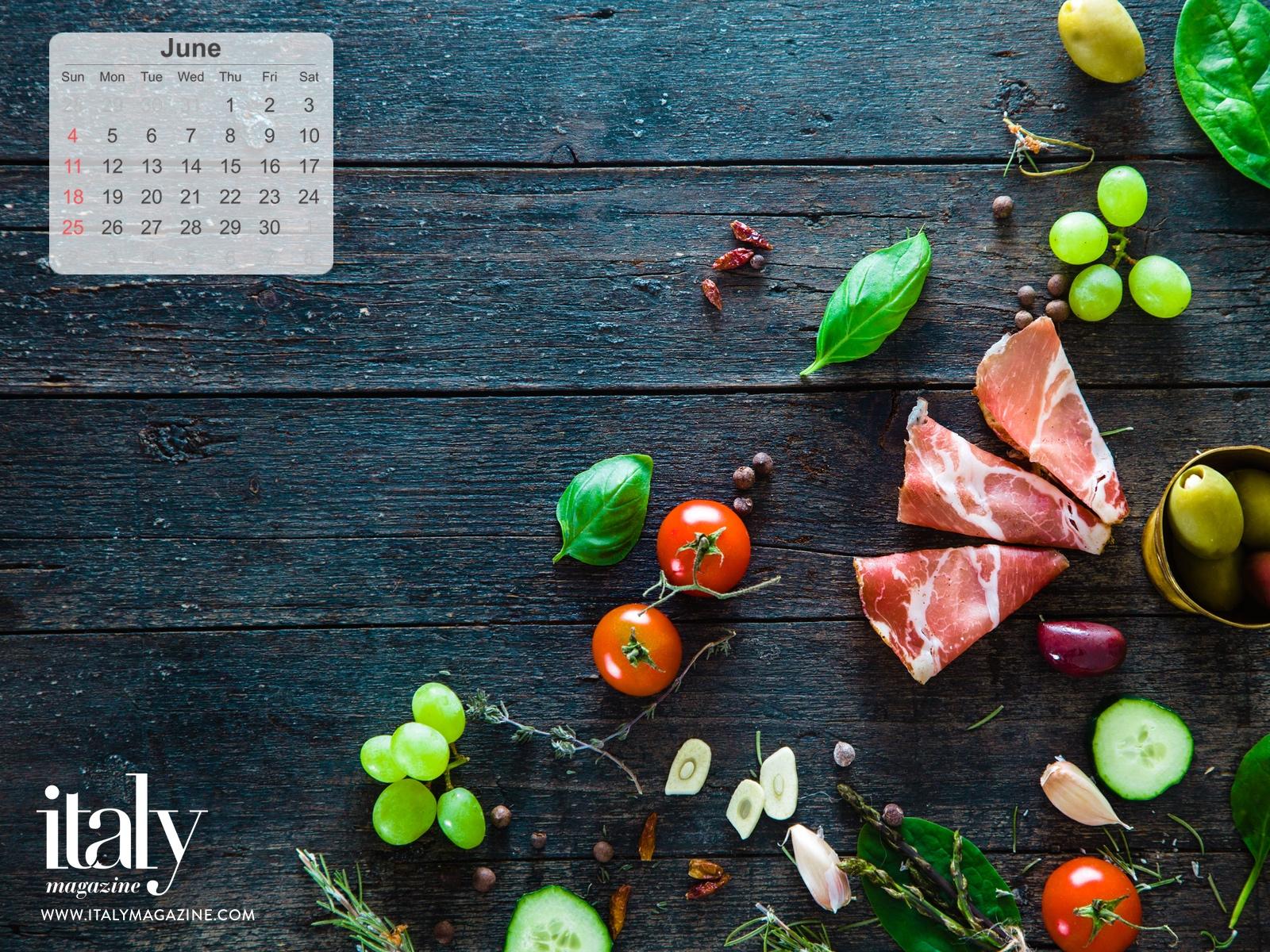 Wallpaper Calendar - June 2017 | ITALY Magazine