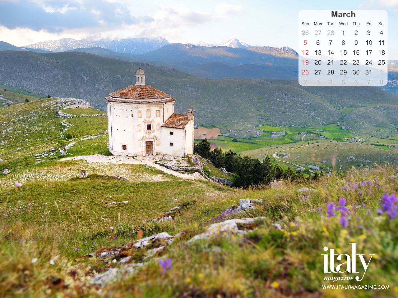 Wallpaper Calendar March 2017 Italy Magazine