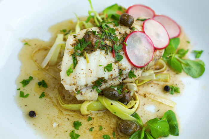 Monkfish with brown butter lemon caper sauce italy for Lemon butter caper sauce for fish