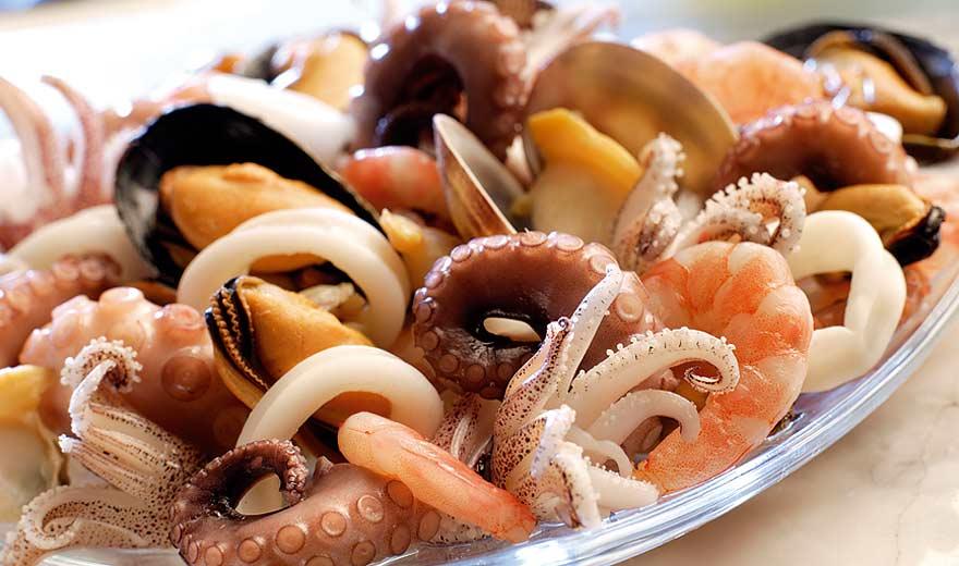 Салаты из мореппродуктов фото