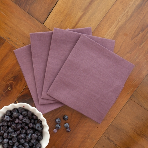 Set Of 6 Linen Napkins Plum Color Italy Magazine
