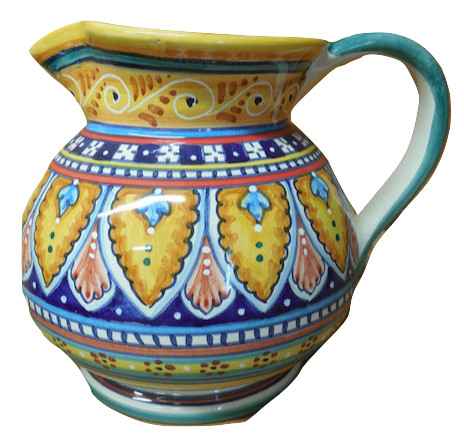 Deruta Ceramiche Sberna Antico Geometrico Pitcher | ITALY Magazine