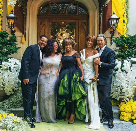 Giorgio Armani Created Tina Turner Green Wedding Gown