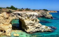 The beautiful coastline of Puglia