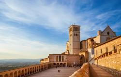 Basilica of Saint Francis of Assisi in Umbria Italy