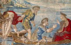 Detail from one of Raphael's tapestries for the Sistine Chapel