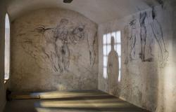 Wall sketches from Michelangelo's Secret Room