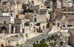 Close-up of houses in Matera Italy