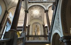 Staircase inside Palazzo Braschi museum in Rome