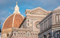Details of Duomo complex in Florence Italy