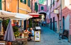 Picturesque street in Monterosso al Mare