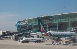 Planes parked at Italy's Turin airport