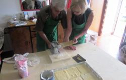 Making pasta squares for Lasagne