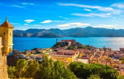 View of Portoferraio on Elba island in Tuscany