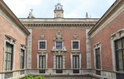 Facade of the mansion of Bagatti Valsecchi Museum from the inner courtyard