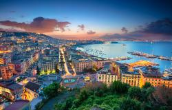 Cityscape of Naples Italy