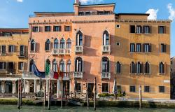 Hotel on the Grand Canal in Venice Italy