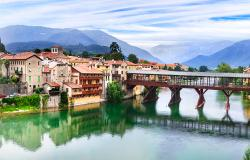 The famous bridge in Bassano del Grappa Italy