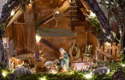 Beautiful nativity scene in Italy
