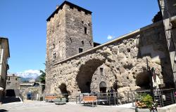 Roman walls in Aosta Italy