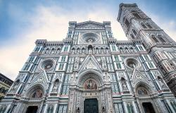 Facade of Santa Maria del Fiore Cathedral in Florence