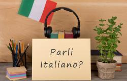 "Paper with text ""Parli Italiano"""
