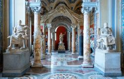 Gallery of Statues at the Vatican Museums in Rome