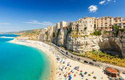 Tropea town and beach in Italy