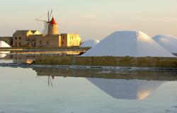 Salt windmill in Sicily