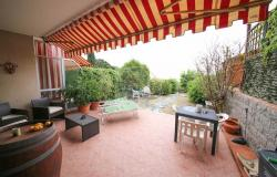 iv1016 For sale in Ospedaletti terraced house with sea view and garden. 0