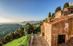 Villa and portion of hamlet for sale on the hills of Versilia, Tuscany 0