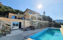 A1126 Villa with swimming pool and sea view for sale in Perinaldo. 0