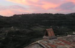 view over the valley - amazing sunsets from our home