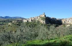 Toffia, a medieval village dates back to 940AD surrounded by olive groves
