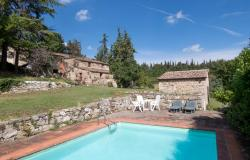 Farmhouse with pool for sale in Castellina in Chianti Tuscany